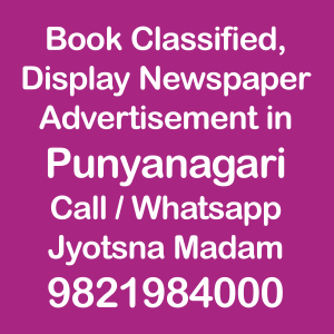 Punyanagri newspaper ad Rates for 2018-19