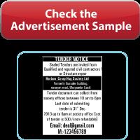 Book Notice And Tenders Ads In Newspaper Online Notice