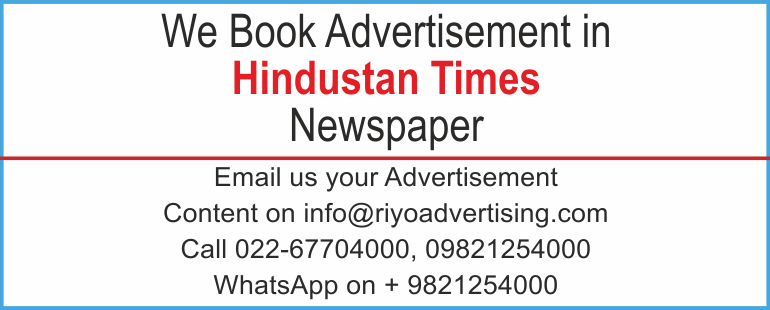Newspaper advertisement sample for  Hindustan Times