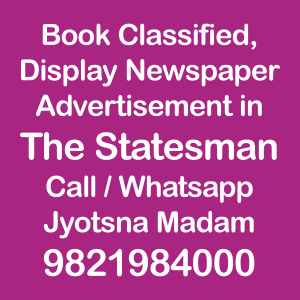 The Statesman newspaper ad Rates for 2018-19
