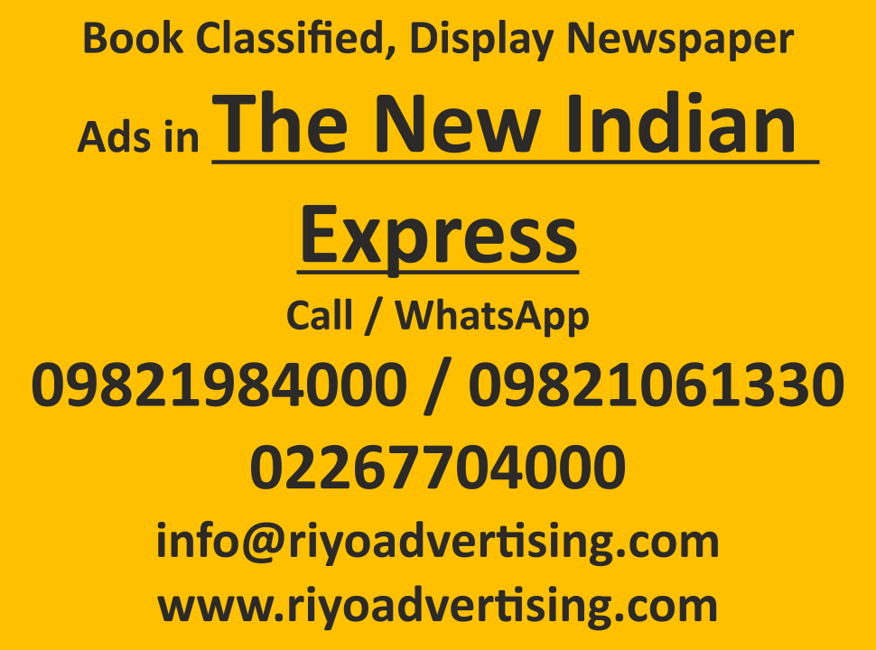 The New Indian Express ads in local and national newspapers