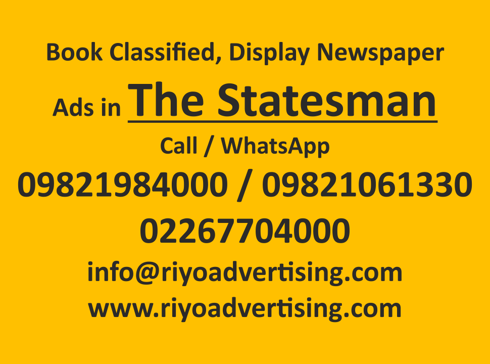 The Statesman ads in local and national newspapers